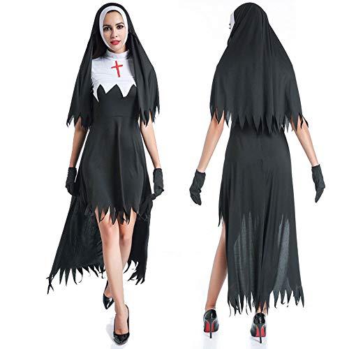 Edelehu Pastore Uniforme Halloween Costume Tunica Hooded Robe con Cappuccio Mantello Cappa Medioevale Festa delle Vacanze Attrezzature,XL