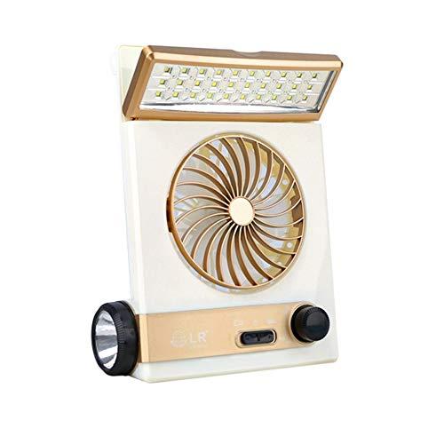 Liefern Solar Elektrische Ventilator Multi-Funktion Aufladen Licht Elektrischen Ventilator Mini Portable Electric Fan