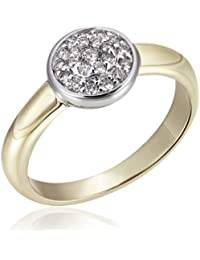 Goldmaid Damen-Ring Glamour Bicolor 585 Gold 22 Brillanten 0,25 ct.
