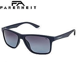 Farenheit Polarized Wayfarer Unisex Sunglasses - (SOC-FA-2337P-C3|57|Blue Color Lens)