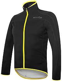 RH + Space Jacket bl-fluoyel S, chaquetas (Ciclismo), Black–para hombre Yellow Fluo, S