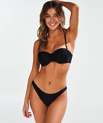 HUNKEMÖLLER Damen Bikinislip Makramee Schwarz 2XL - 3
