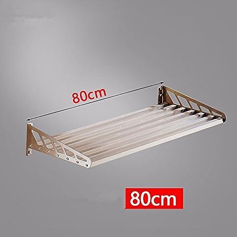 lzzfw 304 Edelstahl Küchen - Tier Topfzahnstange Schüssel zugeben Racks rack Mikrowelle 80 cm, b Wandhalterung