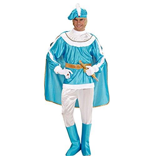 Amakando Prinzenkostüm Herren - XL (54) - Mittelalterkostüm Märchenprinz Adeliger Ritter Verkleidung König Herrenkostüm Edelmann Märchenkostüm Männer Mittelalter Prinz Kostüm