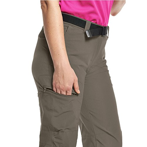 Maier Sports Damen Lulaka Wanderhose Roll-Up Braun