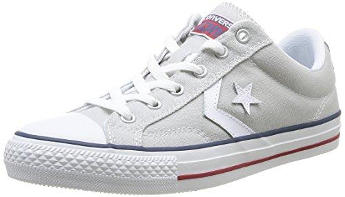 Converse Star Player Adulte Core Canvas Ox - Zapatillas deportivas, unisex, Gris (Gris (121 Gris Clair/Blanc)), 36
