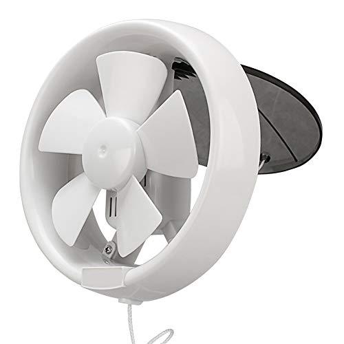 HshDUti 6 / 8inch 220V Ventilator geräuscharm kühle runde Glasfenster Bad Abzugshaube White 6 Inches