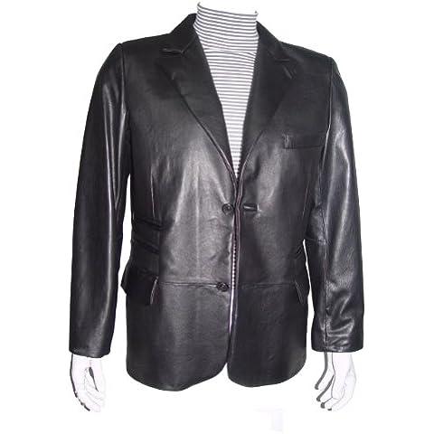 para hombre de costura Paccilo 1037 REGULAR Y GRAN TAMAÑO de cuero Blazer