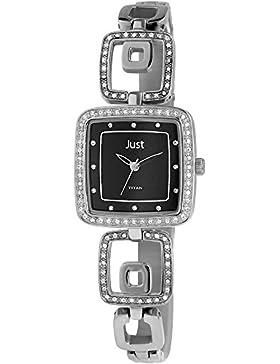 Just Watches Damen-Armbanduhr Analog Quarz Titan 48-S61253-BK