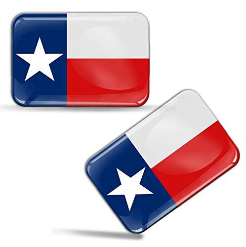 2 x Aufkleber 3D Gel Silikon Stickers Texanischem Texas Flagge Fahne Auto Motorrad Fahrrad Fenster Tür PC Handy Tablet Laptop F 57 -