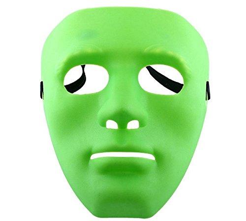 Cdet 1x Grün Maske Geisterschritt Street Dance Performance Masken Masquerade Halloween Maske
