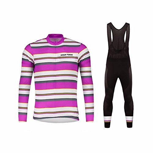 UGLYFROG #18 Radsport Trikots Lange Ärmel Sport & Freizeit Shirts+ Bib Lange Hosen Anzüge Frühjahr-Herbst Style (Short Cycle Sub Bib)