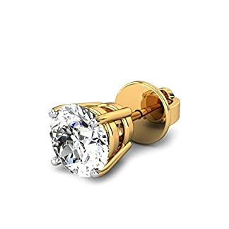 Candere By Kalyan Jewellers Thomas 14k Yellow Gold and Diamond Stud Earrings