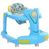 ZLMI Baby Walker Multifunktionaler Klapp Roller Musik Beleuchtung Stepper Spielzeugauto Geeignet...