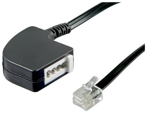 Wentronic Telefon Adapter (RJ11 Stecker auf TAE F Buchse) (Telefon-buchsen)