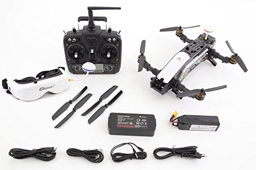 XciteRC 15003850 - FPV Racing Quadrocopter Furious 320 RTF mit Full HD Kamera, Videobrille Goggle V2, GPS, OSD, Akku, Ladegerät und Devo 10 Fernsteuerung, weiß - 3