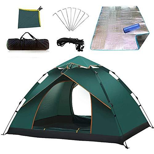 Hibeisi Automatisches Zelt Outdoor Regen Doppel Doppel Frei gebaut Kuppel Camping Zelt Schatten atmungsaktiv tragbar, um Feuchtigkeit Pad zu senden -
