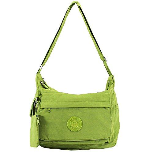Hautefordiva , Damen Umhängetasche dunkelgrau M grün