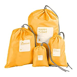 5a35ef9678883 [Official Shop]BXT Travel Essential Bags-in-Bag,Travel Storage Waterproof  Nylon Drawstring Dry Bag Clothes Pack Shoe Pouch Stuff Bag Organisers Set  of ...