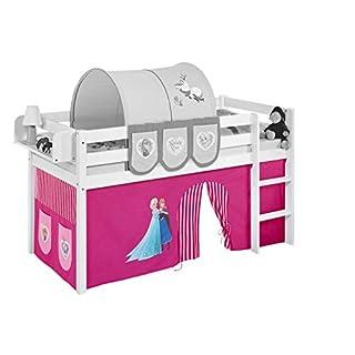 Lilokids Vorhang Eiskönigin Rosa - für Hochbett, Spielbett und Etagenbett