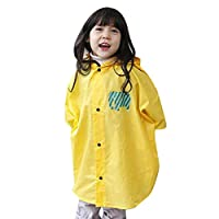 Botetrade Baby Kids Rain Poncho Hooded Poncho Waterproof Suit Size 80-100cm (S/Yellow)