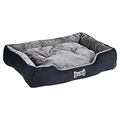 Me & My Black & Grey Large Super Soft Dog Bed 1