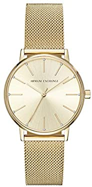 Armani Exchange Wrist Watch For Women, AX5536, Gold
