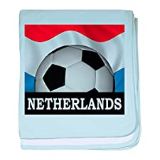 CafePress–Fußball Niederlande Baby Decke–Baby Decke, Super Weich Für Neugeborene Wickeldecke, baumwolle, himmelblau, Standard