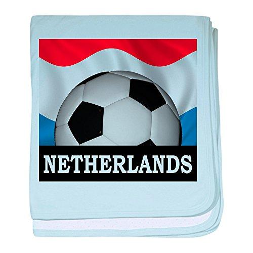CafePress-Fußball Niederlande Baby Decke-Baby Decke, Super Weich Für Neugeborene Wickeldecke, baumwolle, himmelblau, Standard (Baby-decke Fußball)