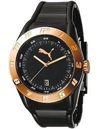 Puma Time Damen-Armbanduhr XL Disc Injection - L Black Rosegold Analog Quarz Plastik PU910661004