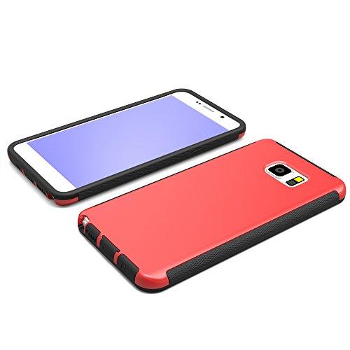Note4 Coque,EVERGREENBUYING Etanche Etui de Protection [Seulement goutte étanche] N9100 Housse étui Anti-Choc Anti-Neige Pare-Poussière Case Cover pour Samsung Galaxy Note 4 Rose Rouge