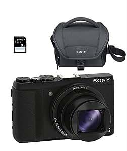 Sony Appareil photo compact HX60V avec zoom optique 30x - appareils photos numériques (20,4 MP, 5184 x 3456 pixels, CMOS, 30x, Full HD, Noir)