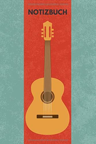 Notizbuch: A5 liniert [Gitarre], als Tagebuch, Songbuch, Journal, Ideenbuch etc. 126 Seiten