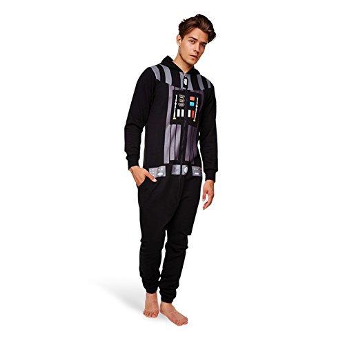Star Wars Kapuzen-Jumpsuit Darth Vader (Onesize) - Farbe: schwarz. 65% Polyester, 35% Baumwollfleece, beidseitig ()