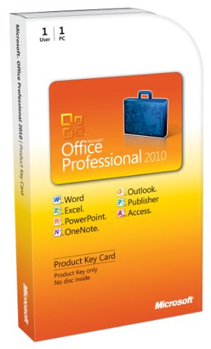 Microsoft Office Professional 2010 - 1PC/1User - englisch (Lizenz-Key)