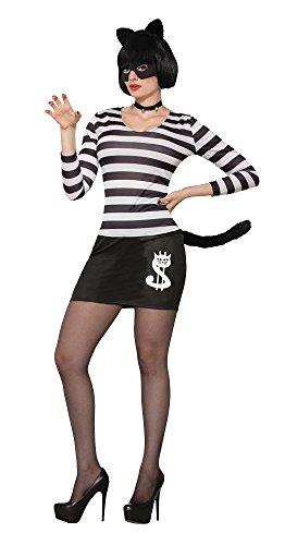 (Forum Novelties 78162Cat Burglar, Kostüm, weiß, weiblich, UK Größe 10–14)
