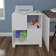 Artany Kuad Cabinet with 2 Doors, White - W 67,5 cm x D 36 cm x H 76,5 cm, 7899805412018, 1