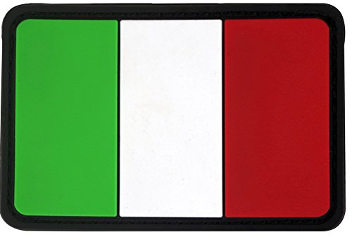 Italy Flag PVC Rubber 3D Hook&Loop Touch Fastener Patch Tactical Patch by Seibertron