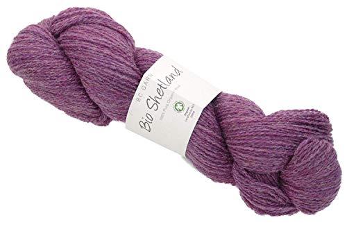 BC Garn Bio Shetland Wolle Fb. 32, GOTS Zertifiziert, 100% Pure Organic Wool zum Stricken oder Häkeln -