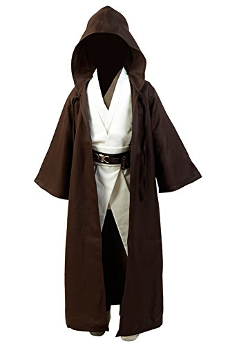 FUMAN Star Wars Kenobi Jedi Cosplay Costume für Kinder ()