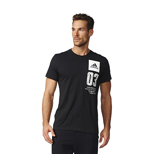 adidas Herren City New York Shirt Schwarz - (NEGRO)