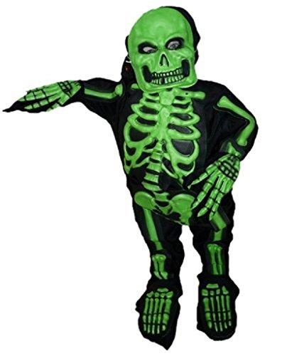 AN04 2-4 Jahre Skelettkostüm, Halloween Kostüm, Skelett Faschingskostüme, Skelette Karnevalskostüm, für Kinder, Jungen, Mädchen, für Fasching Karneval Fasnacht, auch als Geschenk zum Geburtstag oder Weihnachten (Halloween Kostüme 2 Jährigen Jungen)