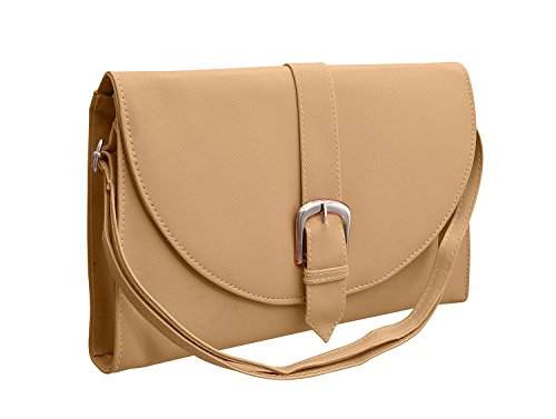 BFC-Buy For Change Latest Stylish Multi Pocket Cross Body Cream Sling Side...