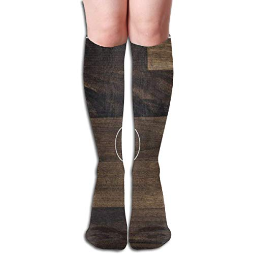 guolinadeou Socks Basketball Court On Vintage Wooden Vintage Womens Stocking Party Sock Clearance For Girls -