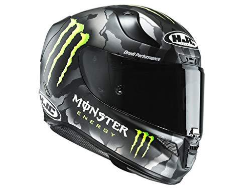HJC Motorradhelm RPHA 11 Monster Military Camo, Schwarz/Rot, Größe S