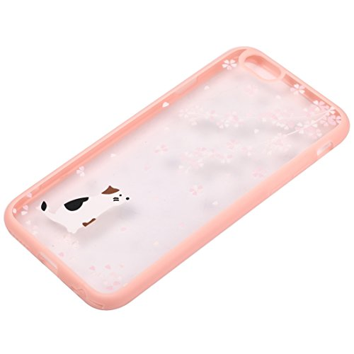 Wkae Case & Cover Pour Motif iPhone 6 &6s Fleur Fleur de cerisier étui de protection en plastique transparent ( SKU : IP6G0689F ) IP6G0689E