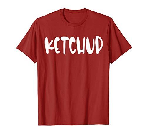Einfach Ketchup Kostüm - Einfache Halloween Kostüm Idee Senf Ketchup Paare T-Shirt