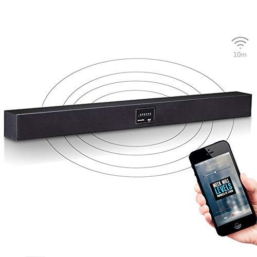 ZENWEN Flüsternde Audio 5.1 Home Theater Projektor Wand-Wireless Bluetooth Bar Fernsehlautsprecher, acht-Horn Bluetooth soundbar Lautsprecher (schwarz)