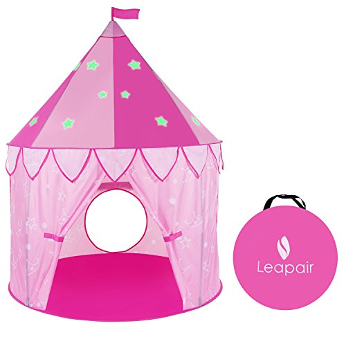 leapair-princess-castle-play-tent-glow-in-the-dark-stars-girls-outdoor-tent-indoor-play-house-47d-x-