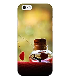 Chiraiyaa Designer Printed Premium Back Cover Case for iPhone 6 (boy girl friend valentine miss kiss heart bottle nature) (Multicolor)